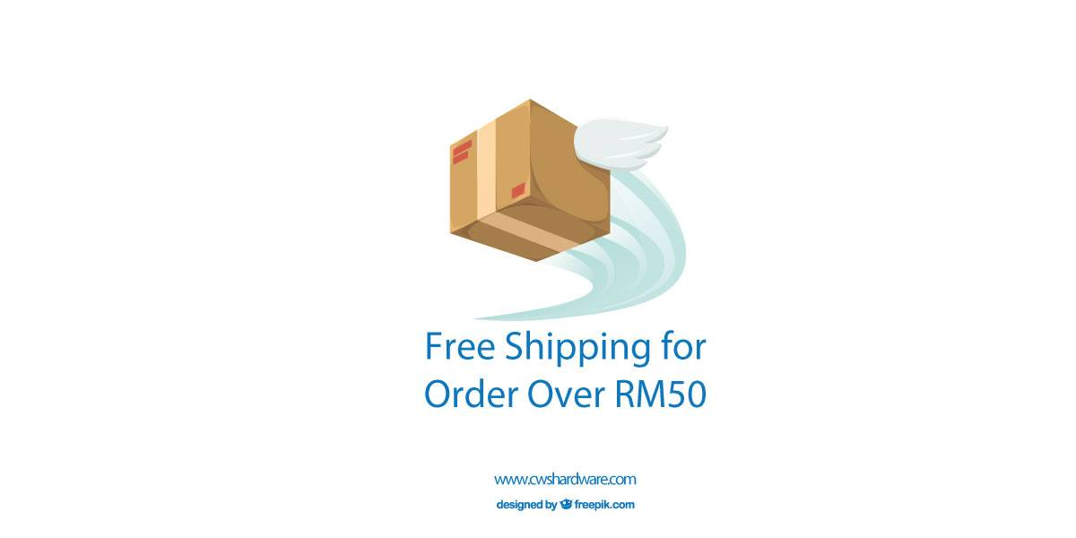 Free Shipping for Order over RM50