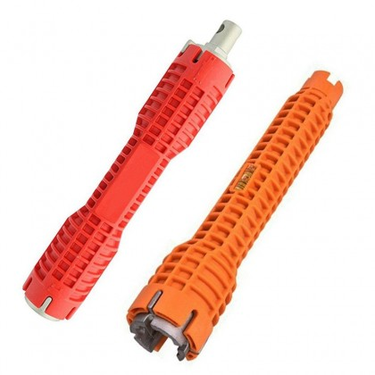Faucet and Sink Installer, Extra-long design Tool Wrench Tools Orange